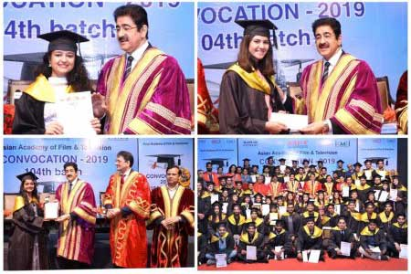 Convocation of 104th Batch of AAFT at Marwah Studios