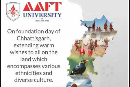 AAFT University Extends Warm Greetings to People of Chhattisgarh