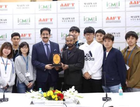 Students Delegation From Japan Visited Marwah Studios